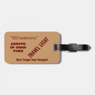 Ye Olde Wise Luggage Tag