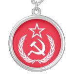 Ye Ole Commie Round Pendant Necklace