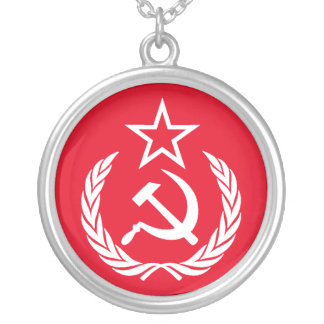 Ye Ole Commie Silver Plated Necklace