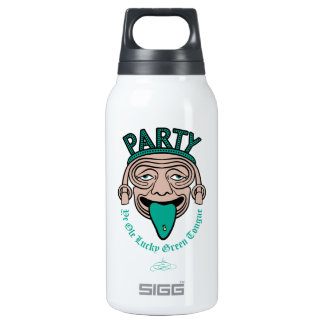 Ye Ole Lucky Green Tongue 10 Oz Insulated SIGG Thermos Water Bottle