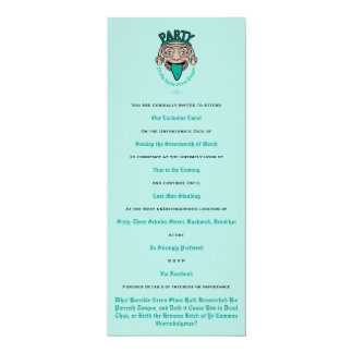 Ye Ole Lucky Green Tongue 4x9.25 Paper Invitation Card