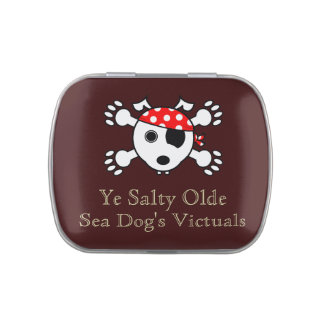 Ye Salty Olde Sea Dog Jelly Belly Candy Tins