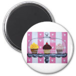 yea! cupcakes! 2 inch round magnet