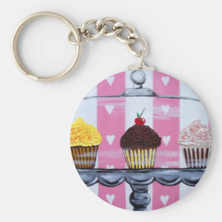 yea! cupcakes! keychain