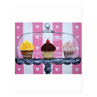 yea! cupcakes! postcard
