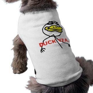 Yea del pato - ropa del mascota playera sin mangas para perro