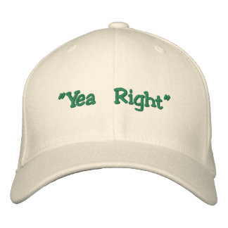 """Yea Right"" Edward McGee Flex-Fit Hat Embroidered Baseball Caps"