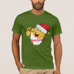 yeah baby money emoji Funny t-shirt design santa