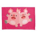 YEAH!! Cute Cartoon Pigs Pillowcase