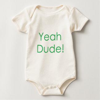 Yeah Dude Green Baby Bodysuit
