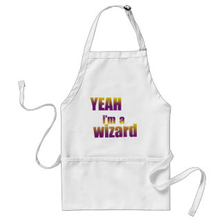 Yeah I'm a Wizard Adult Apron