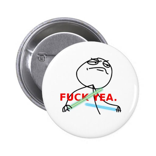 Yeah Jedi meme Pinback Button