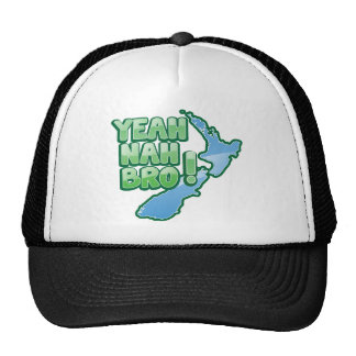 Yeah nah BRO New Zealand KIWI  Auckland design Trucker Hat