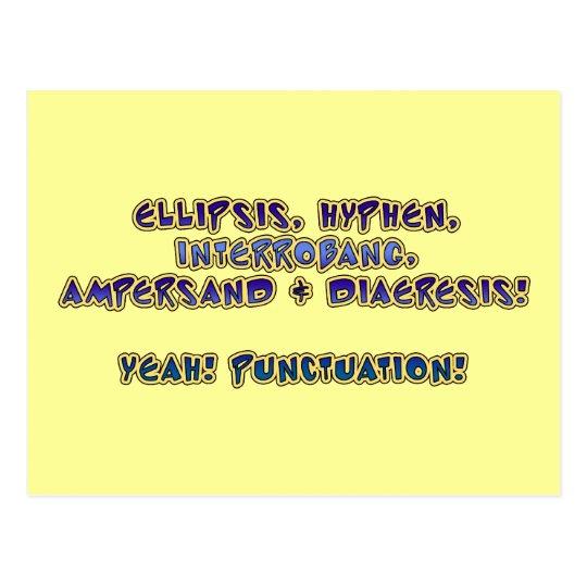 Yeah! Punctuation! Postcard