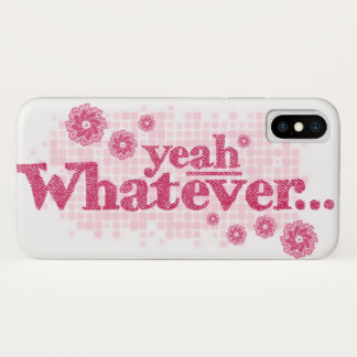 """""""yeah whatever"""" red & white iphone case"""