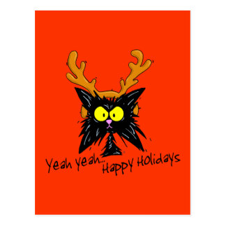 """Yeah Yeah...Happy Holidays"" Postcard"
