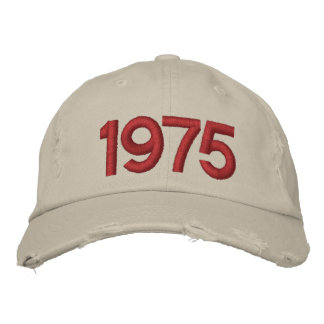 Year 1975 embroidered baseball hat