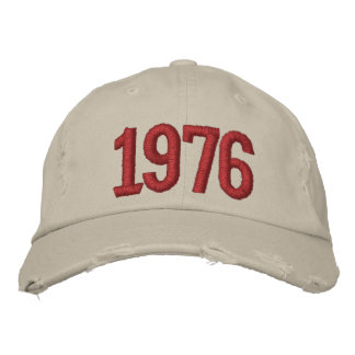 Year 1976 embroidered hats