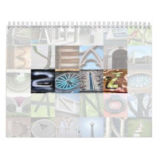 Year 2012 Letter Art Calendar 2