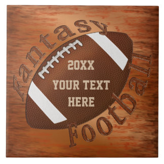 Year and Your Text Fantasy Football Gift Ideas Tile