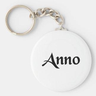 Year Basic Round Button Keychain