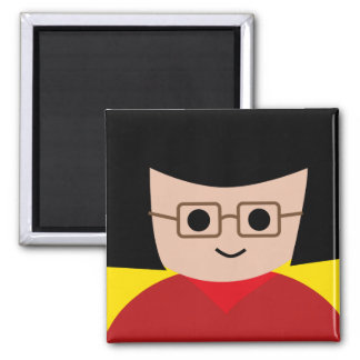 year book face 15 2 inch square magnet