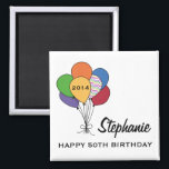 """Year Dated, Age, Name Personalized Birthday Magnet<br><div class=""""desc"""">Looking for something different?  We have more. Just click on the Store link below and enter &#39;50th birthday&#39; in the search box.</div>"""
