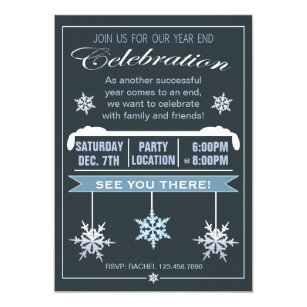 Year end christmas invitations announcements zazzle year end celebration christmas party invitation stopboris Choice Image