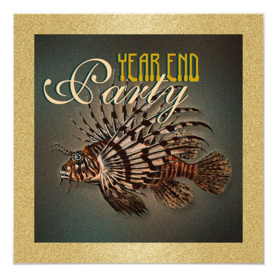 """year end"" elegant fishing marine fish card"