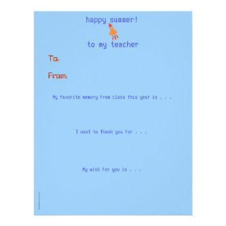 Year-end personalized teacher thank you - rocket letterhead