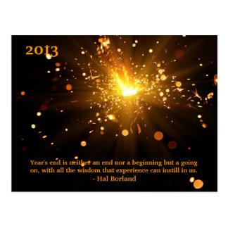Year End Wisdom Postcard