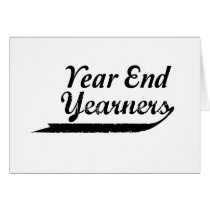year end yearners card