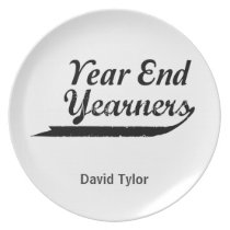 year end yearners dinner plate