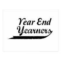 year end yearners postcard
