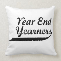 year end yearners throw pillow