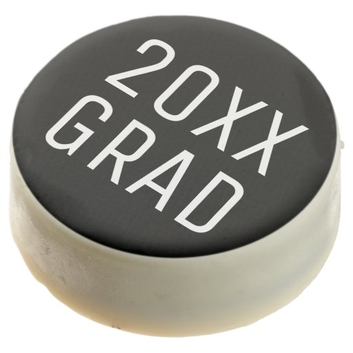 YEAR Grad Modern Black White Chocolate Covered Oreo