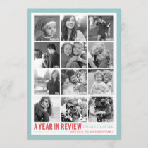 Year in Review 12 Photo Collage Holiday Photocard
