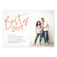 Year in Review Best in Year Red Holiday Card