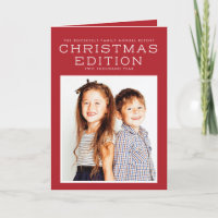Year In Review Christmas Card Infographic