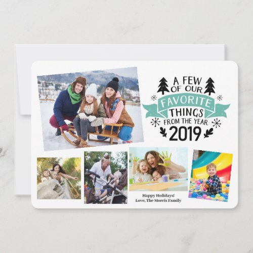 Year In Review Favorites 2019 White Blue Holiday