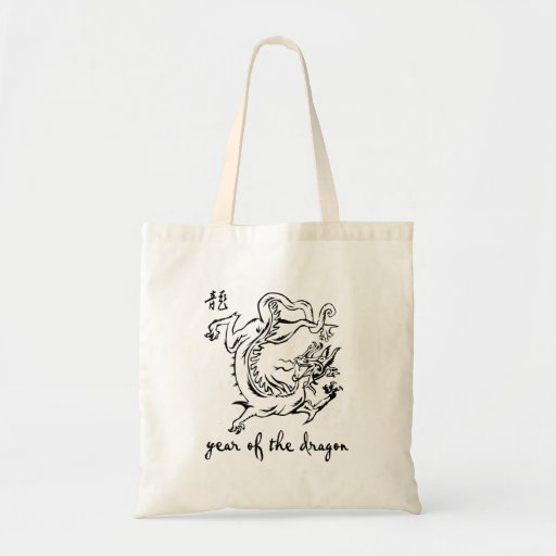 year of dragon outline.png tote bag