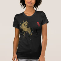 Year of HORSE Painting Seal Animal Chinese Zodiac T-Shirt