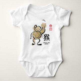 Year of MONKEY Painting Seal Animal Chinese Zodiac Baby Bodysuit