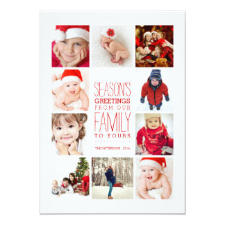 Year of Photos Season's Greetings Collage in Red Card