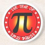 Year of Pi  3/14/15 9:26:53 Beverage Coaster