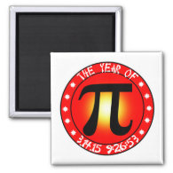 Year of Pi  3/14/15 9:26:53 Fridge Magnet