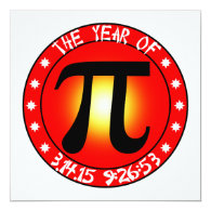 Year of Pi  3/14/15 9:26:53 Invites
