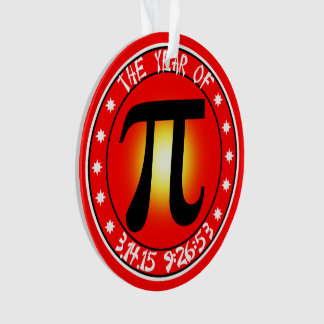 Year of Pi  3/14/15 9:26:53 Ornament