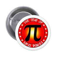 Year of Pi  3/14/15 9:26:53 Pinback Buttons