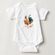 Year of Rooster, Chinese Character, Baby Bodysuit